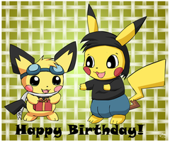 Happy Birthday pikachuandpichu106 by pichu90