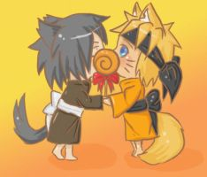 sasunaru lollipop by kara1221