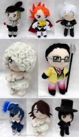 Book of Circus Chibi Plushies by LadyoftheSeireitei