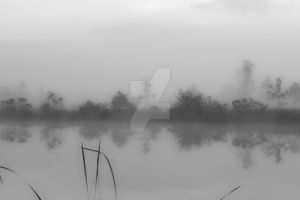Early morning fog on water by Opium4TmassS