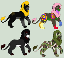 Themed male lion adoptables by TomisAnimals