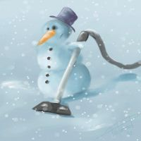 Irritated Snowman :) by PixelObsessed