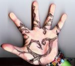 Tattoo Inspired Hand Tree P.1 by RoseScentedCorpse