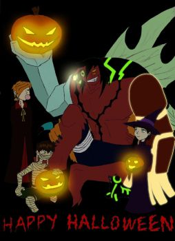 Trick, Treat and Pumpkins by Tresher