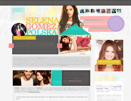 Selena-Gomez.pl Design 5 by imbornforthis