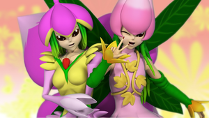 [3DCG]Lilymon and Lilamon by maserd