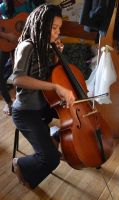 The Cellist by tchalla811