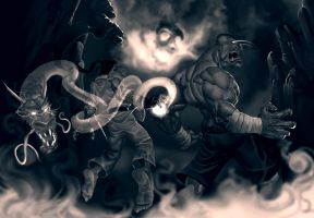 ryo vs sagat by salahh