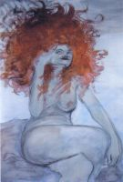 Nude with Red Hair by rosalarian