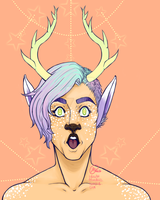 Pastel Deer Boy Commission by Hawkesblood