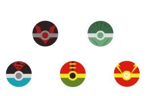 DC Pokeballs by CrimsonHorror