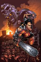 Army of Darkness 3 Pin-up by juan7fernandez