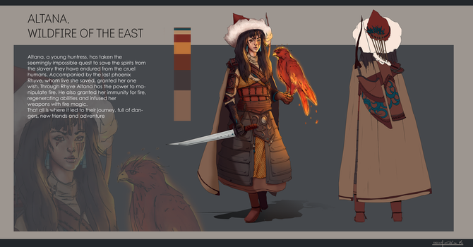 Altana, wildfire of the east by Amythist07