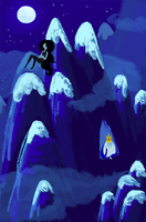 Marceline and the Ice King (abandoned work) by katiepox