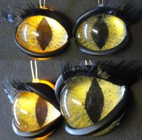 4cm 3d feminine feline eyes by DreamVisionCreations