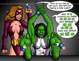 She-Hulk, Savaged by achillesheelart