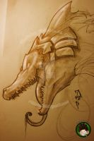 Another Renekton sketch by FEDsART