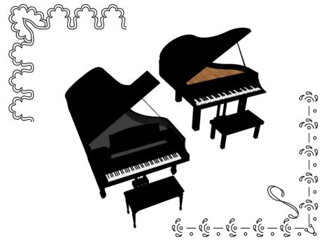 MMD Accessory Grand piano 2 DL by innaaleksui