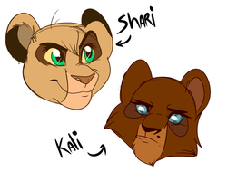 Shari and Kali - Concepts by Wolf-Chalk
