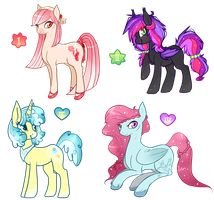 MLP FiM  Collab Adoptables Auction (CLOSED) by Fayven