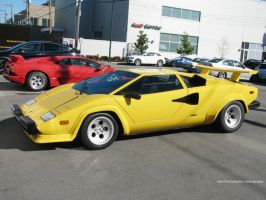 Yellow Countach by SeanTheCarSpotter