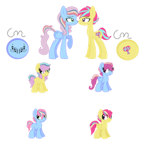 MLP - Breedable Foals - Sugar Pop and Melody by cheesepuff2