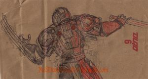 Duro Sketch: Sanguine Sergeant 02 by KreepingSpawn
