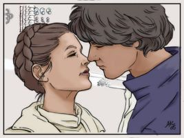 Han and Leia ... Yes. by MystMaker