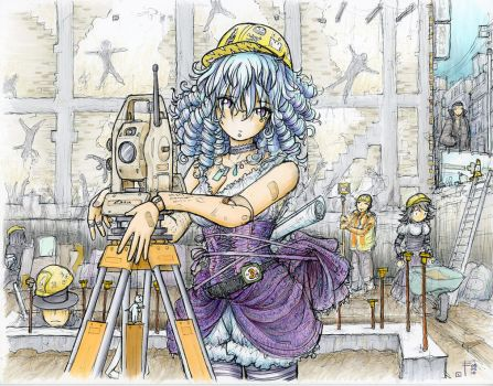 DollGurl - Construction Site (COLOR) by fredrin