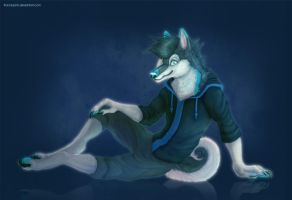 Commission - Blue by francis-john