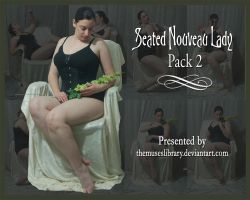 Seated Nouveau Lady PACK 2 by themuseslibrary