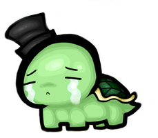 Sad Turtle in a Top Hat by SarahKahlan