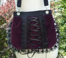 Bordeaux velvet corset bag by Estylissimo