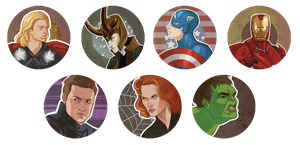 Avengers Button Set by emengel