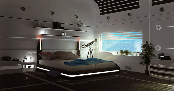 Sci-fi Room by tschreurs