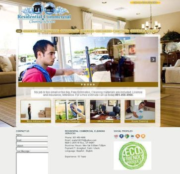 Residential Commercial Cleaning Services Website by VanFanelSama