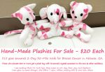 Plushies Crafted to Fight Breast Cancer by guardian-of-moon