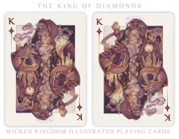Card Art: The King of Diamonds by wylielise
