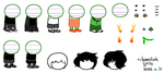 a bunch of sprite bases by homestuckspritebases