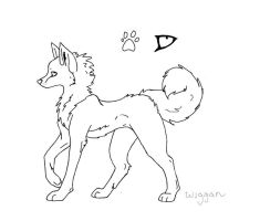 Free Canine Line Art 3 by Wiggans-Adopts