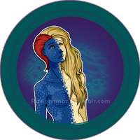 XMen: Mystique Button by RaelynnMarie