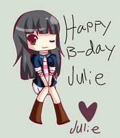 happy birth day julie by MaikochanRiot