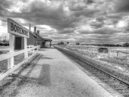 No more services for a while - monochrome version by BrendanR85