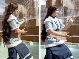 Adult Katara Cosplay - Old Friends by kateknitsalot