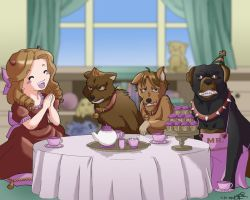 SPN Tea Party by LauraDoodles