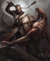 Teutonic Knight by Odinoir