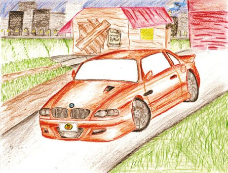 orange BMW M3 From Most Wanted by Skyline-Fan