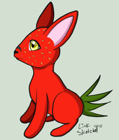 Day 188 - Strawbunny by LinkSketchit