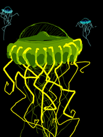 Deep-sea jellies by PineappleSodaCat