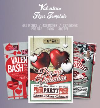 Valentine Flyer/Poster Bundle Vol.4 by another-graphic